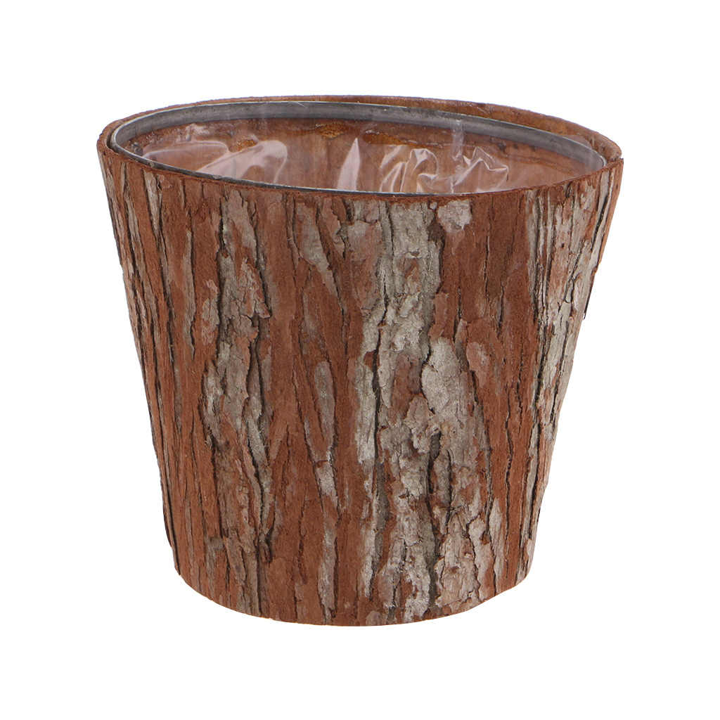 Drop Ship Vintage Wood Tree Bark Flower Pot Vase Wooden Succulent Planters Home Garden Table Decoration