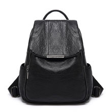 Woman High Quality Leather Backpack Travel Fashion Female Backpack Bags Large Capacity School Bag Mochila Feminina Travel C1122(China)