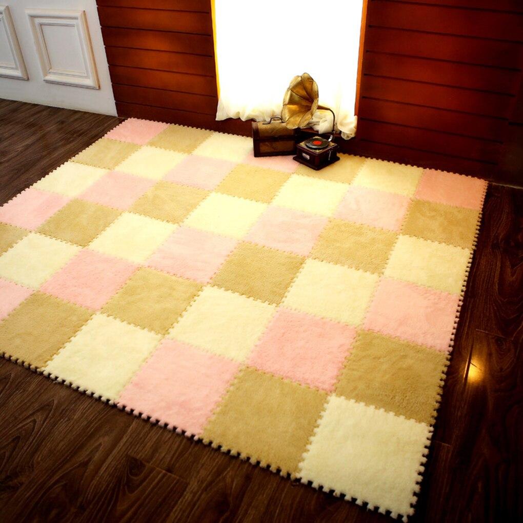 Enfants Patchwork en peluche mousse ramper Pad Puzzle enfant tapis salon chambre sol paillasson