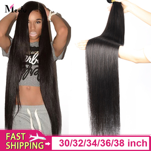 Meetu 30 inch bundles Long Hair Bundles Malaysian Straight Hair Bundles Weave 100% Human Hair 32 inch 34 36 38 inch Remy Hair