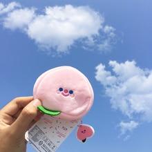 Plush Purse Keychain Kids Cartoon Kawaii Coin Fluffy Cute Boxi Fruit Gift Soft for Birthday