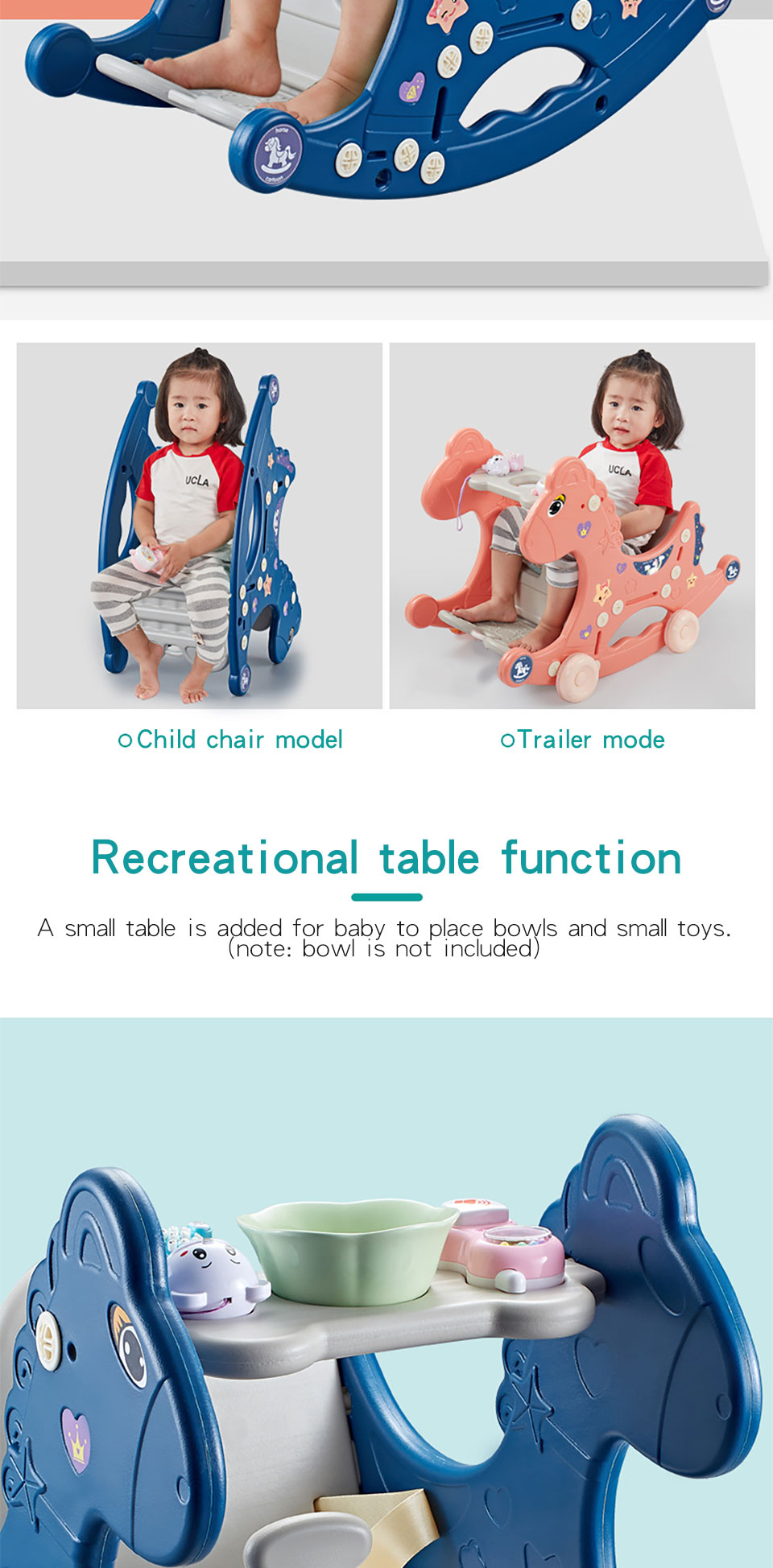 Hb3be0b6cb7874eeab0e3c868e2c431a1b Ruizhi Children Three-In-One Plastic Rocking Chair Baby Indoor Multi-Function Rocking Horse With Music Kids Sport Toys RZ1197