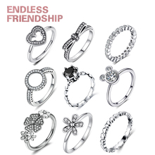 New Fashion Silver Plated Zirconia Women Engagement Brand Ring With Color Crystal Wedding Rings For Lady Jewelry Gift