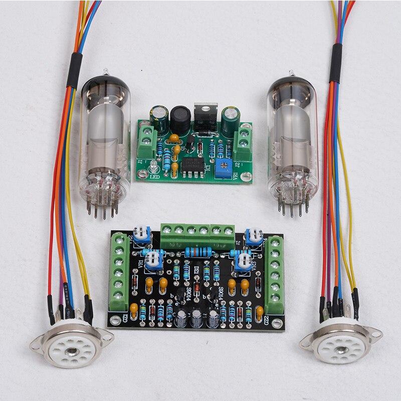 6E1 Tube Cat Eye Driver Board  EM81 Audio Level Fluorescence Tuning Instruction Circuit DIY Kit Modification