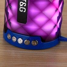 Горячая Tg155 красочный светильник беспроводной Bluetooth открытый портативный карты Instert аудио мини спортивный сабвуфер динамик