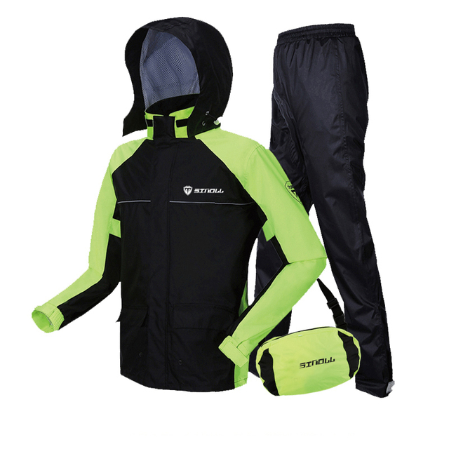 Adult Nylon Motorcycle Raincoat Rain Pants Suit Rain Coat Thin Body Waterproof Jacket Rain Clothes Hiking Rainwear Gift Ideas 1