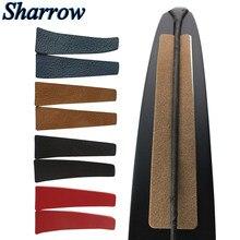 Estabilizador de Material de cuero para caza, amortiguador de extremidades, estabilizador de cadena de arco, amortiguador, arco recurvo, reducción de ruido, 2/4 Uds.