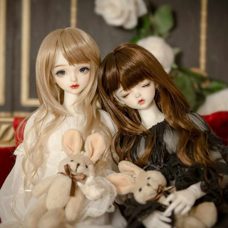 BJD / SD baby wig look for words BJD fake hair 3:4:6 curly hair big wave hairstyle women's wig