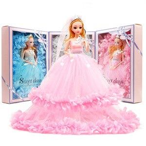 40cm ślubna lalka księżniczka dziewczyna najlepsza zabawka prezent na imprezę bal sukienka spódnica zestaw podarunkowy dom zabaw dla dzieci element ubioru dla dzieci zabawki nowy S01