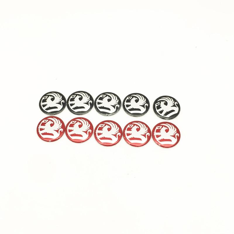 5pcs Metal 14mm Car Key Stickers Emblem Logo For Vauxhall Astra Mokka Corsa Meriva Vxr8 Gts Vectra Car-Styling
