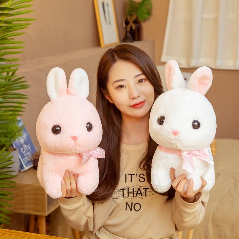 Горячие 35 см/45 см большой толстый кролик, плюшевые мягкие игрушки животные кролик розовый/белый кролик, мягкие игрушки, детские игрушки для ...