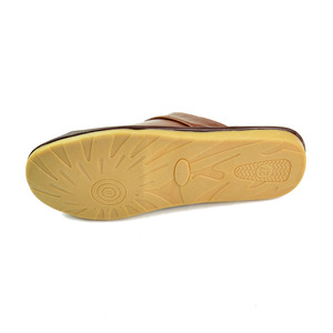 Image 5 - Genuine Cow Leather slippers couple indoor non slip men women home fashion casual single shoes PVC soft soles spring summer 505