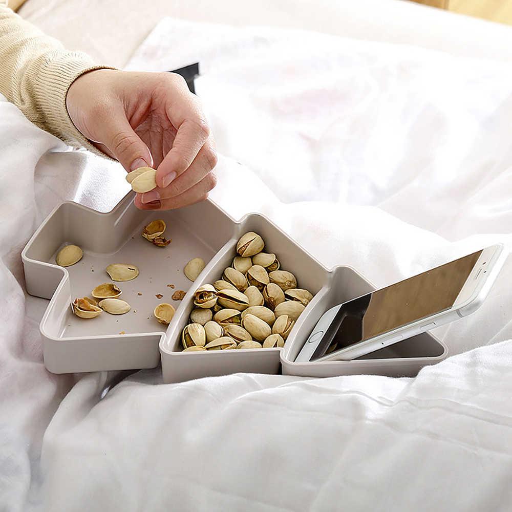 Kreatywny kształt choinki cukierki przekąski orzechy nasiona suche owoce plastikowe talerze naczynia miska taca śniadaniowa domowe gadżety kuchenne