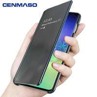 Per Samsung S10 Più Il Caso di Lusso Originale Smart Finestra Specchio Della Copertura di Vibrazione per Samsung galaxy S8 S9 S10 Più Nota 8 9 10 più il Caso di