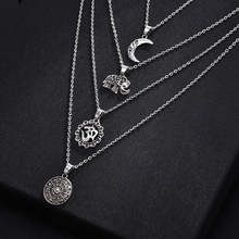 New Multi-layer Crystal Moon Necklaces and Pendants for Women Vintage Charm Gold Choker Necklace 2020 Wholesale Jewelry