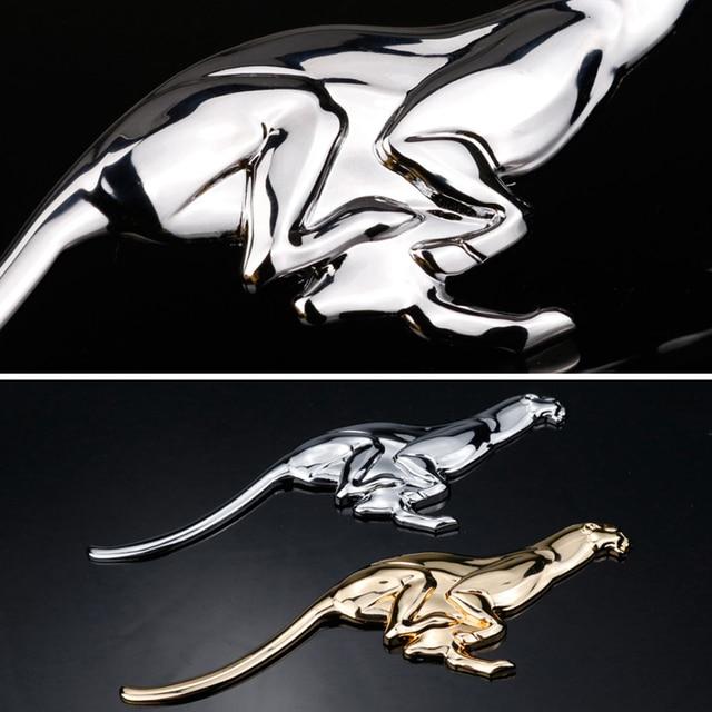 DSYCAR 1 pièces 3D léopard voiture autocollant voiture métal Badge emblème 3D léopard voiture coffre Auto Logo adhésif autocollant pour la plupart des voitures
