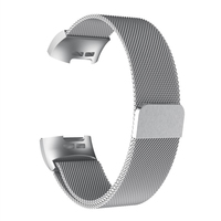 Kompatibel Fitbit Gebühr 3/4 Bands Frauen Männer Edelstahl Mesh Magnetische Metall Band Ersatz Uhr L ist 190mm M ist 220mm