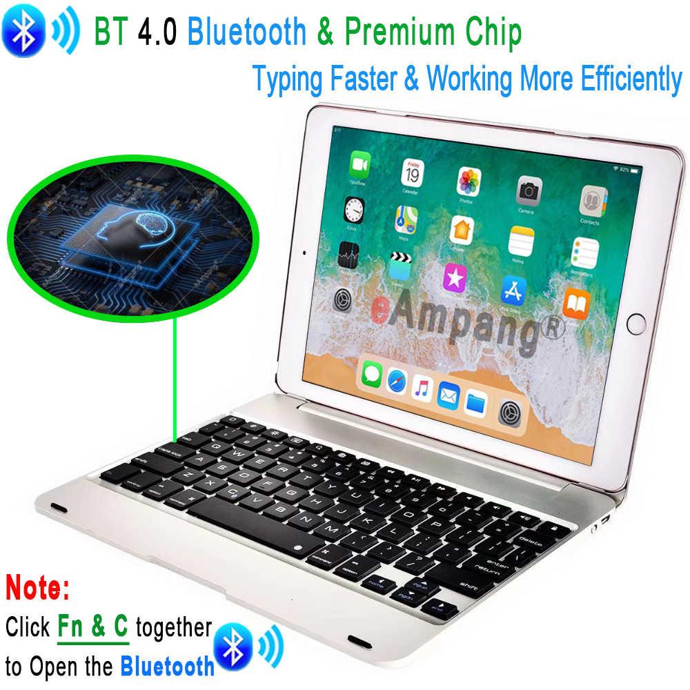 Teclado inteligente para apple ipad, 9.7 2017 5a e 6a geração, bluetooth, teclado caso para ipad ar 1 2 5 6 pro 9.7 mini 2 3 4 5