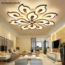 White Led Ceiling Lights 110v 220v Modern Led Chandelier Ceiling Lamp Home Living room Bedroom Dining room White Light Fixtures acrylic thick modern white black led ceiling chandelier lights for living room bedroom dining room chandelier lamp fixtures