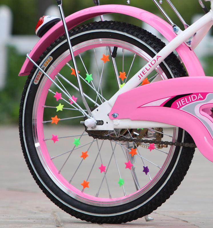36Pcs Colorful Bicycle Wheel Spoke Beads Children Clip Decoration Bike Colorful Plastic Bead Baby Kid Gifts Cycling Accessories