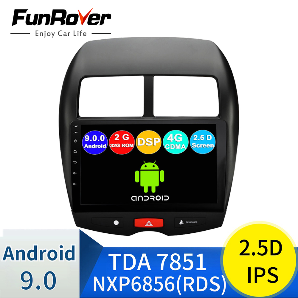 FUNROVER 2G + 32G android 9.0 auto radio multimedia player Für Mitsubishi ASX Peugeot 4008 <font><b>Citroen</b></font> <font><b>C4</b></font> stereo dvd gps navigation RDS image