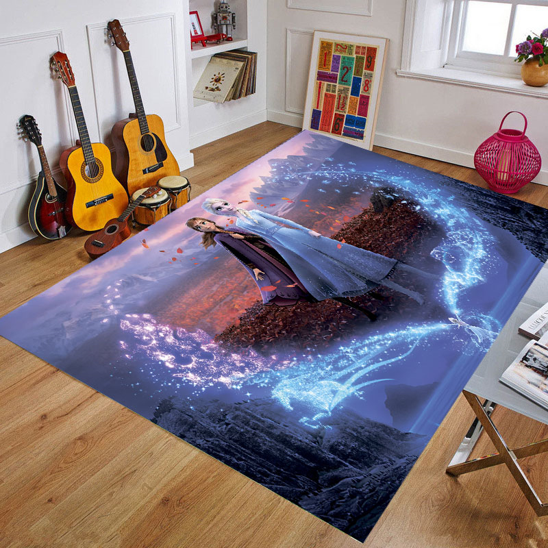 Frozen Wedding Home Decor Carpet Baby Playmat Kids Rug 3D Printing Carpets For Living Room Cartoon Bedroom Mat  Area Rugs Gift