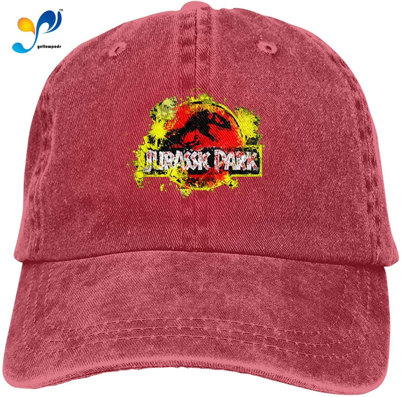 Dinosplat Jur-assic Park Hat Vintage Denim Baseball Caps Cotton Dad Hat Unisex Sandwich Hat