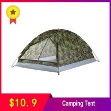 TOMSHOO 1/2 Person Zelt Ultraleicht Einzigen Schicht Wasser Widerstand Camping Zelt PU1000mm mit Tragen Tasche für Wandern Reisen