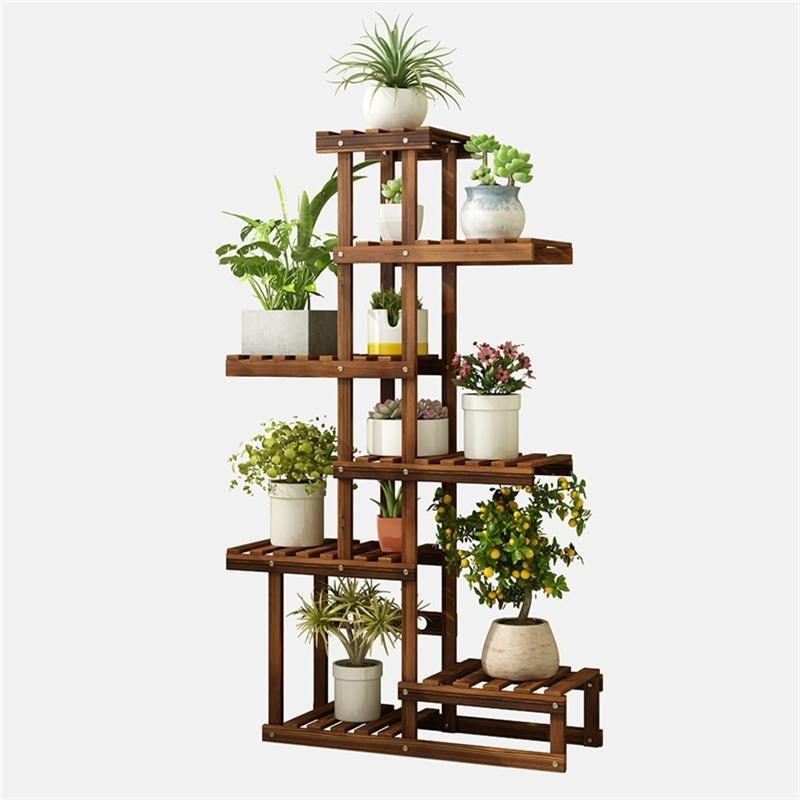 Etagere Plante Estanteria Plantas Shelf For Huerto Urbano Madera Plant Rack Outdoor Stojak Na Kwiaty Dekoration Flower Stand
