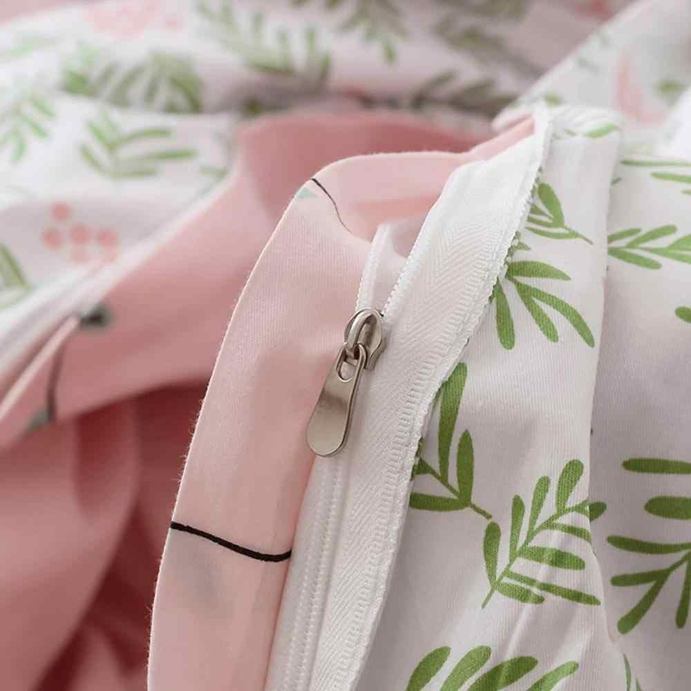 2019 обезьяна деревья банан розовый пододеяльник набор высокое количество хлопок постельное белье двойной Королева Король Плоский лист натяжная простыня, постельное белье