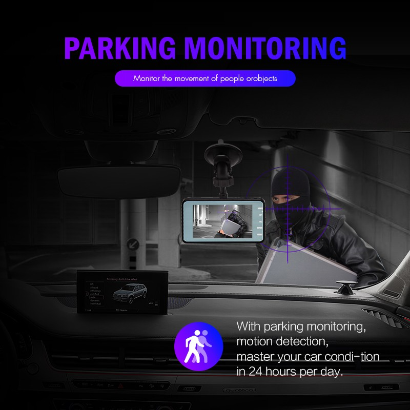 "J16 Car DVR Dash Camera Rear View Dual Camera Video 1080P Full HD 3.6"" Cycle Recording Night Vision G-sensor Wide Angle Dashcam 6"