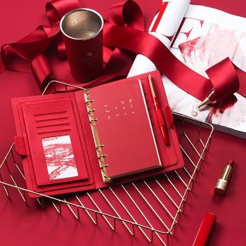 A5/6 planificateur d'agenda de cahier de mode coloré épaissir le carnet de notes de filles fournitures de papeterie dossier de réunion bloc-notes Filofax