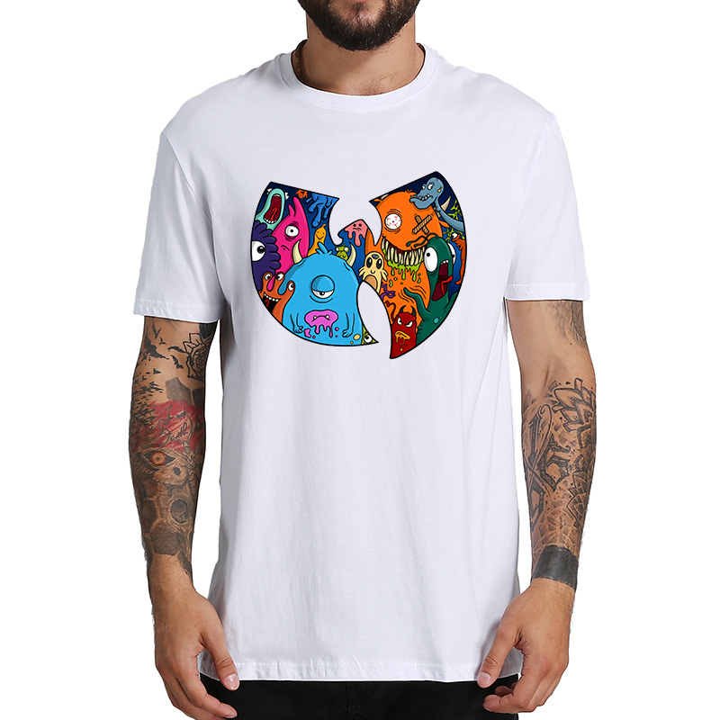 Wu Tang Clan T Shirt Funny Cartoon Tshirt Hip Hop Band EU Size 100% Cotton Breathable High Quality Vintage Tops