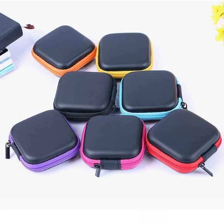 الأزياء البسيطة سماعات أذن مضغوطة سماعة SD حافظة للبطاقات صندوق تخزين مفتاح محفظة إكسسوارات السفر التعبئة المنظمون