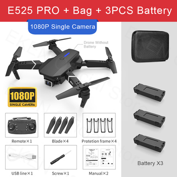 E525 PRO RC Quadcopter Profissional Obstacle Avoidance Drone Dual Camera 1080P 4K Fixed Height Mini Dron Helicopter Toy 18