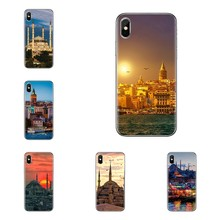 Para Oneplus 3T 5T 6T Nokia 2 3 5 6 8 7 9 230 3310 2.1 3.1 5.1 Mais 2017 2018 Pastel night view cena Cidade da Turquia Caso TPU Covers(China)