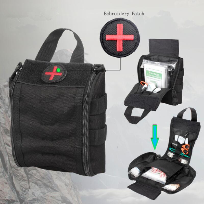 Medical Bag Nylon Tactical First Aid Kits Utility Medical Accessory Bag Outdoor Hunting Hiking Survival Modular Medic Bag Pouch