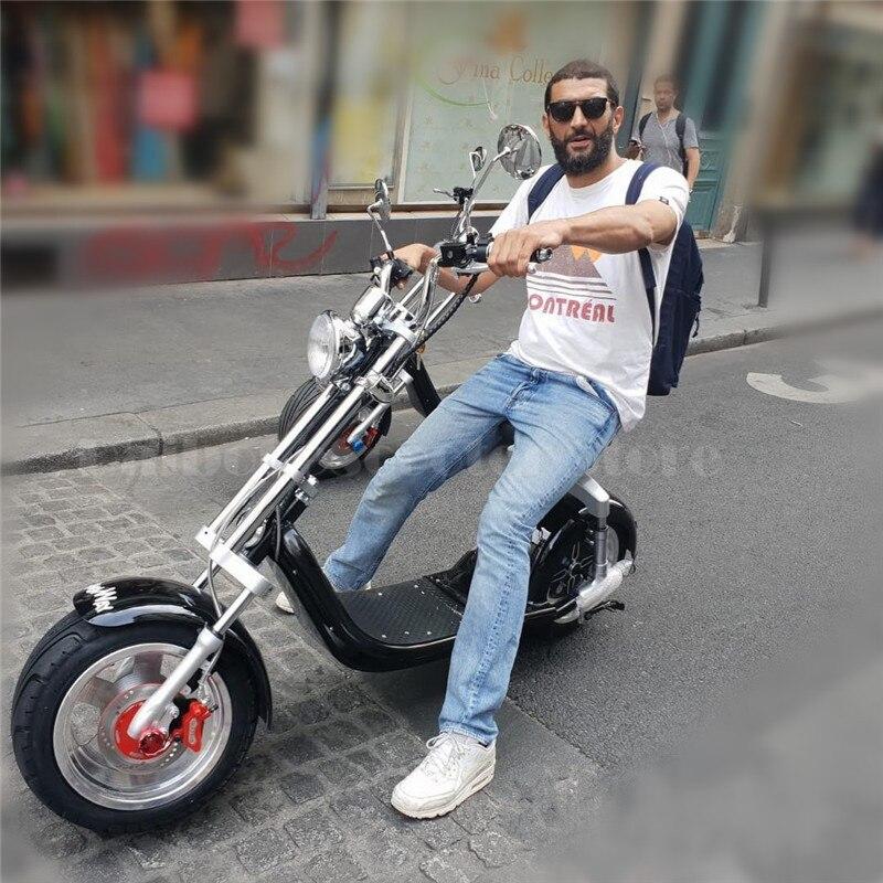 Elektrický skútr Citycoco Two Wheels Elektrický skútr Big Wheels 60V 1000 W Harley Elektrický skútr se sedadlem (2)