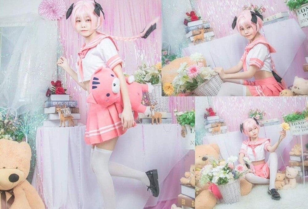 Image 5 - Anime Fate Astolfo Cosplay Costume JK  School Uniform Sailor Dress Outfi Women Fancy Outfit Anime Halloween CostumeAnime Costumes   -