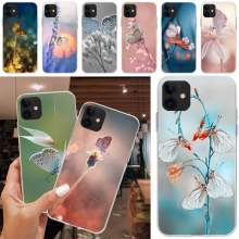 Graceful Vlinder Tpu Zachte Siliconen Phone Case Cover Voor Iphone 5C 5 5S Se 7 8 Plus X Xs xr Xs Max 11 11 Pro 11 Pro Max(China)