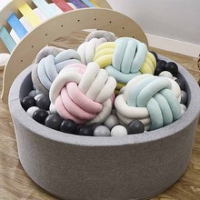 Nordic Style Knot Pillow Cushion Soft Warm Sofa Pillow for Kids Room Decoration Calm Sleep for Babies Room Decoration HM0053