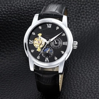 FOSSIL Watch Men Automatic Watch with Leather Strap Brand Casual Mechanical Watch Men relojes hombre 2019