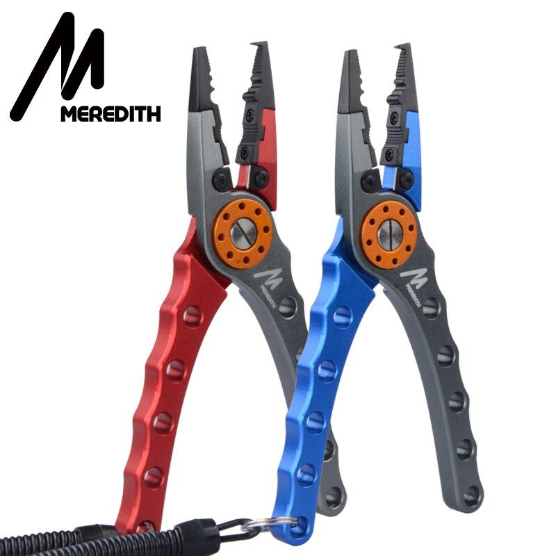 MEREDITH Aluminium pince de pêche outils de pêche pinces multifonctionnel acier inoxydable ciseaux anneau fendu crochet enlève outils