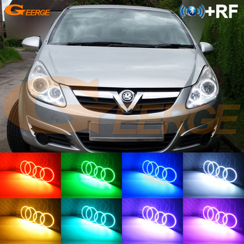 RF remote Bluetooth APP Multi-Color RGB LED Angel Eyes kit For Opel Vauxhall Corsa D 2006 2007 2008 2009 2010 2011 pre Facelift