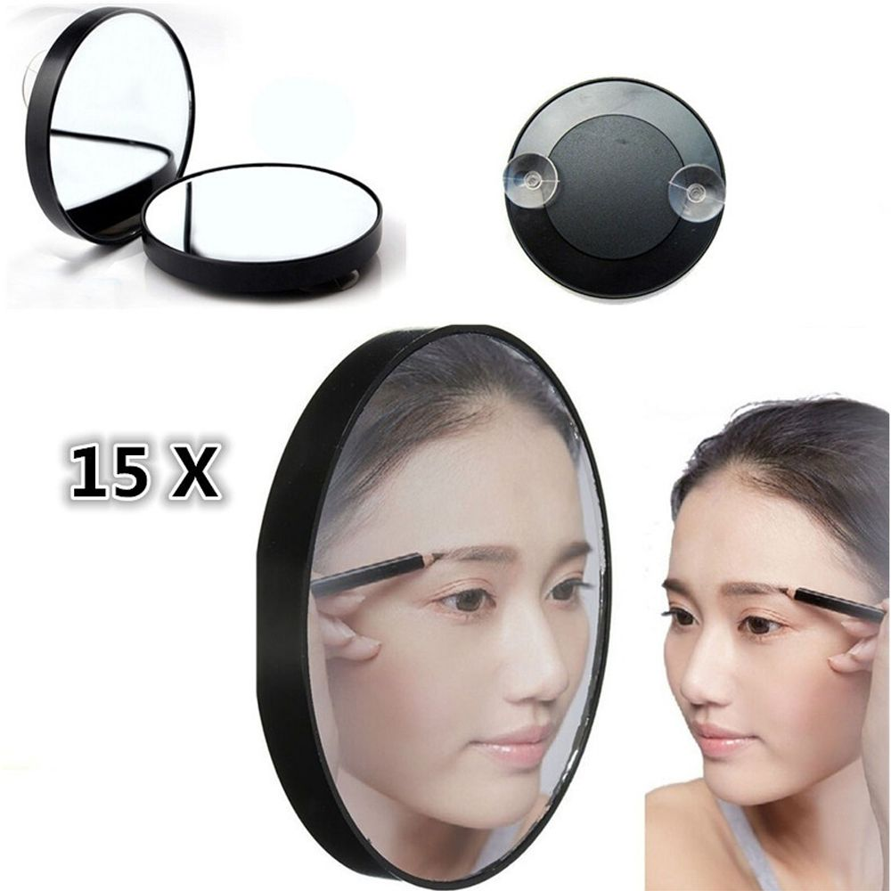 New Magnifier Bathroom Cosmetic Mirror Wall Hanging Sucker Mirror High Quality Household Mirror Stand For Bathroom Travel