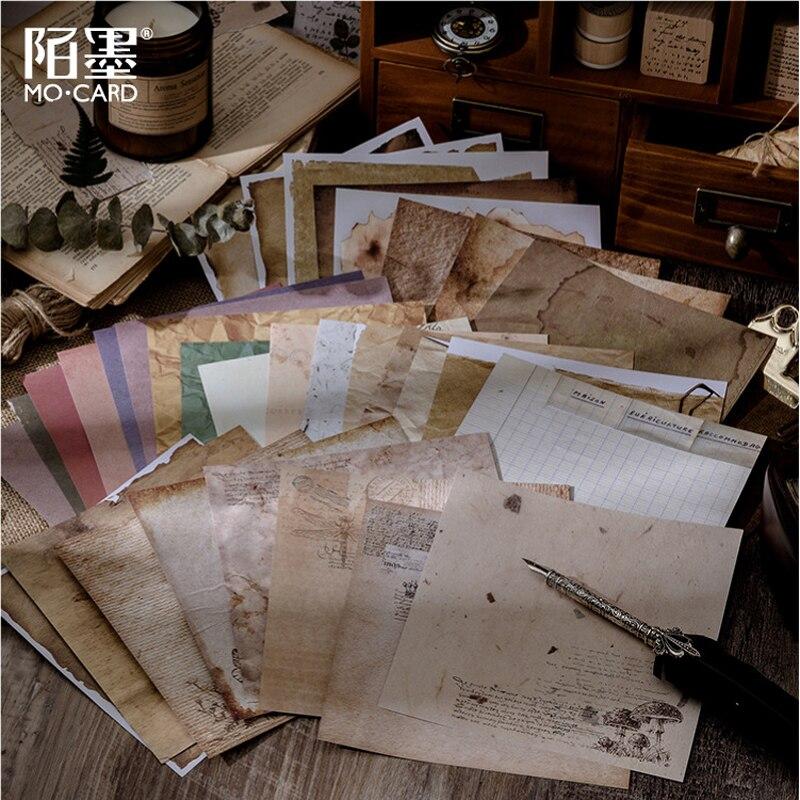 Vintage papelaria adesivo scrapbooking antigo criativo diário diy diário decorativo adesivo selo de papel suprimentos 8 folhas/pacote