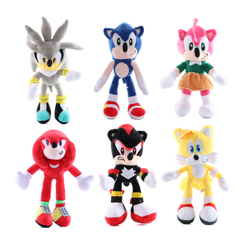 6 Styles 30cm Sonic The Hedgehog Soft Stuffed Plush Doll Toys Cartoon Anime Dolls Toys Boy Girl Toy For Kids Birthday Xmas Gift new arrival cute cartoon plush hedgehog dolls soft cotton stuffed kawaii hedgehog plush baby toys birthday gifts for kids