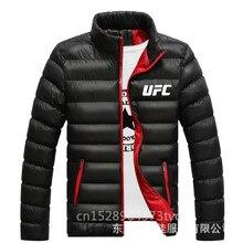 Мужская зимняя куртка со стоячим воротником и сэндвич UFC Мужская толстовка мужская зимняя куртка на молнии с стоячим воротником yu