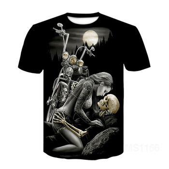 Skull Beauty Rock Cool 3D t shirts Mens Motorcycle Punk 3D Printed T shirt Men Clothes tshirt Summer Top Homme Hipster Pop Shirt magic u t shirt dungeons dragons dnd novelty 70s 80s arcade game punk cool t shirt funny rock pop women men top
