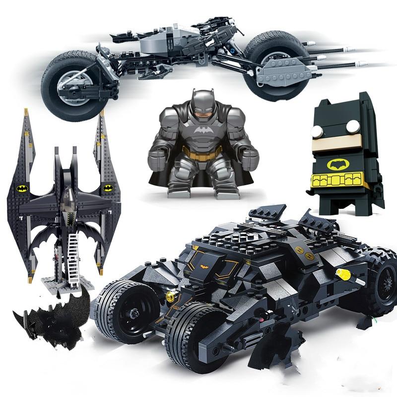 Decool Superheros Compatib Lepining Batman Vs Superman Batmobile Marvel's Avengers 4 Movie Model Building Toys Children Bricks